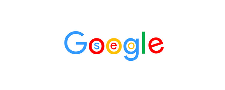 Google logo with word SEO in letters oog.