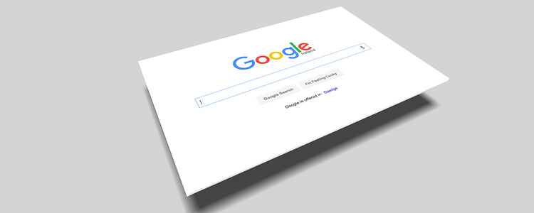 An image showing Google search page.